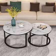 3 piece coffee table set. Amazon Com Contemporary Coffee Table Set Modern Faux Marble Look Top End Table Set Home Living Room Furniture White And Black F60 70 80cm Furniture Decor