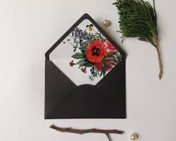 Envelope Liner Template Vintage Botanical Floral A6 Envelope A7