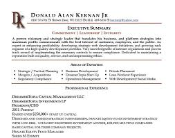 executive summary resume example images