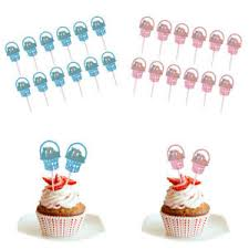 24pcs Rabbit Cupcake Toppers Party Decoration Cake Toppers Food