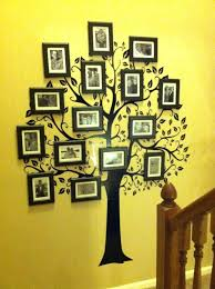 family tree 6 picture frame  on tree photo collage wall art with personalised wooden family tree frame home decor picture collage
