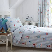 sail on by boys boats cotton duvet set cot bedding