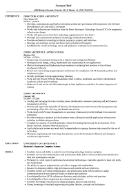 Chief Architect Resume Chief Architect Resume Samples Velvet Jobs 1