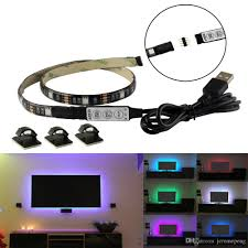 5v usb rgb led strips light tv black pcb waterproof 1m 30leds smd 5050 with rgb mini controller for computer case pc background dimmable led strip lights