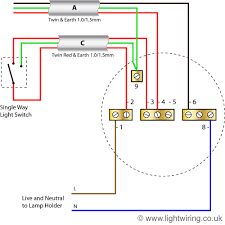 lighting wiring diagram light wiring radial circuit last ceiling rose old colours