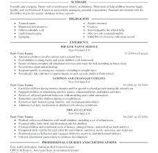 Professional Nanny Resume Sample Nanny Resumes Examples Sample Resume Cover Letter Babysitter