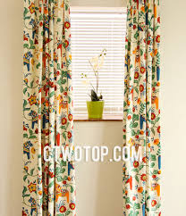 colorful patterned curtains chic cotton soundproof beige multi color patterned bay window curtains c bedroom curtains