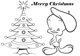 Tweety Bird Coloring Pages To Print Of Christmas Coloring Home