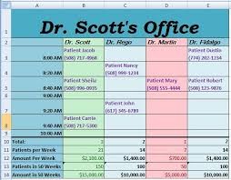 Make Schedule On Excel When Accurate Data Means The Difference Between Life And