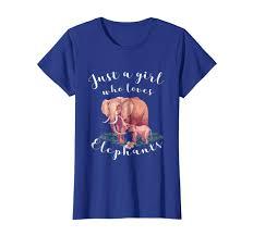 Elephant Design Gifts Amazon Com Just A Girl Who Loves Elephants Design Shirts