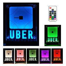 Uber Lyft Light Up Sign Uber Sign Led Logo Light Decal Glow Accessories Wireless