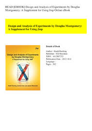 Design And Analysis Of Experiments Ebook Read Ebook Design And Analysis Of Experiments By Douglas