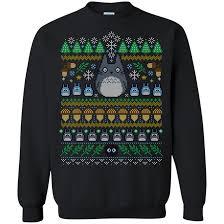 Christmas Ugly Sweater Tonari no Totoro Hoodies Sweatshirts – Gear ...