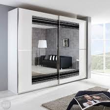 Schwebetürenschrank Stratos Schrank In Weiß Schwarz Spiegel