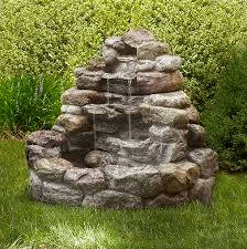 garden fountain. Exellent Garden Garden Oasis Large Lighted Rock Fountain  Shop Your Way Online Shopping U0026  Earn Points On Tools Appliances Electronics More Inside W