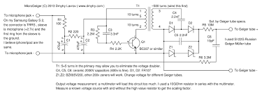 microgeiger a simple open source geiger counter which connects as here s the circuit diagram