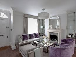 Purple And Gray Living Room Patio Gray Area Rug Concrete Exposed Ducts Warehouse Furniture