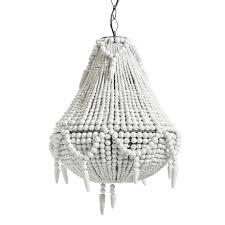 wahalla white beaded chandelier