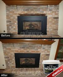 fireplace cleaner spray cleaning brick with vinegar inspection and