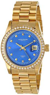 gold watches for men akribos xxiv men s ak488bu impeccable analog gold watches men akribos xxiv