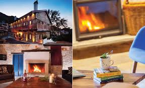 blissful winter havens country hotel rooms with a fireplace