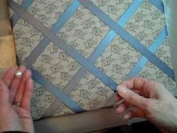 How To Make French Memo Board Fabric Ribbon Covered Bulletin Board YouTube 40