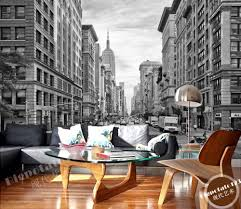 New York Bedroom Wallpaper Aliexpresscom Buy Modern Black And White Building Wallpaper