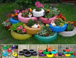 Diy Garden Projects Diy Tire Garden Pictures Photos And Images For Facebook Tumblr