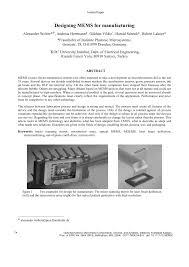 Microsystem Design Senturia Pdf Pdf Designing Mems For Manufacturing