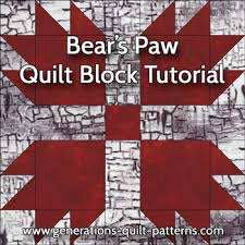 Bear Paw Quilt Pattern Amazing Bears Paw Quilt Block Pattern Instructions In 48 Sizes