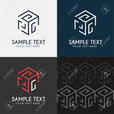 Cube Design Template Thin Line Design Template Cube Maze