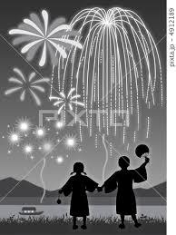 花火 グラデーションのイラスト素材 4912189 Pixta