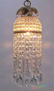 reserved for jes jeweled antique czech crystal dome pendant chandelier