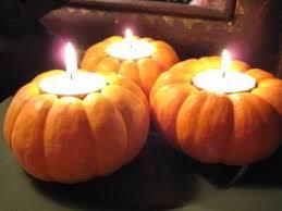 Image result for pumpkin candle holder centerpiece