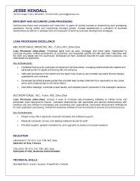 Smple Mortgage Loan Assistant Cover Letter Mortgage Loan Processor