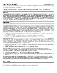 Resume For Construction Superintendent Construction Superintendent Classy Construction Resume Examples