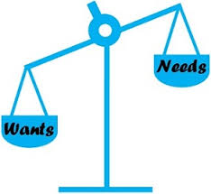Needs And Wants Chart Difference Between Needs And Wants With Comparison Chart