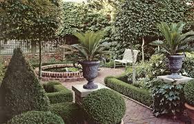 Lawn & Garden:Spanish Garden Inspiration With White Garden Bench Also  Antique Pots Spanish Garden