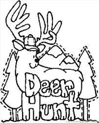 Small Picture Coloring Pages Deer Hunt Entertainment Others free printable