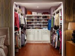 showcase shoes in a walk in closet