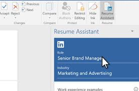 resume in ms word