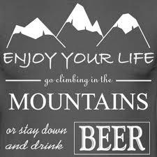 Bier Und Berge Spruch Mens T Shirt
