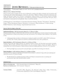 architect resume format free intern architect resume example