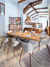 country style dining rooms. Dining Room With A Modern Country-style Kitchen. Serving Wooden Table For Eight Country Style Rooms R
