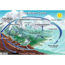 a water cycle diagram helps to answer the question      how does the    the water cycle diagram