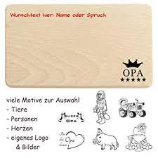 Opa Brettchen Graviert Mit Name Spruch Und Motiv Aus Holz