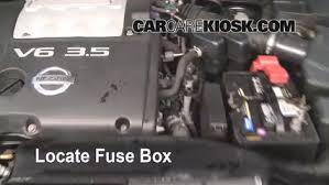 replace a fuse 2004 2008 nissan maxima 2004 nissan maxima se replace fuses in fuse box replace a fuse 2004 2008 nissan maxima