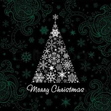Christmas Tree Made Of Snowflakes Vector  Free DownloadSnowflakes For Christmas Tree