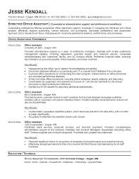 Sample Resume For Secretary Job Executive Assistant Cover Letter