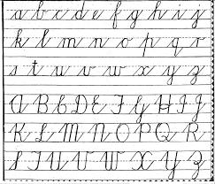 handwriting cursive lowerupper